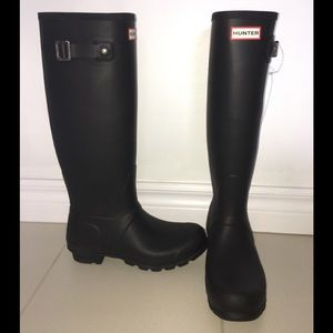 Hunter Original Tall Matte Rain Boot - Size 8